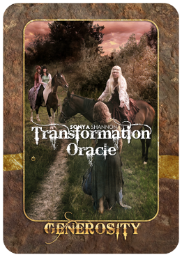 Generosity card in Sonya Shannon's Transformation Oracle