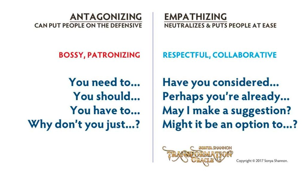 Antagonizing vs. Empathizing Language