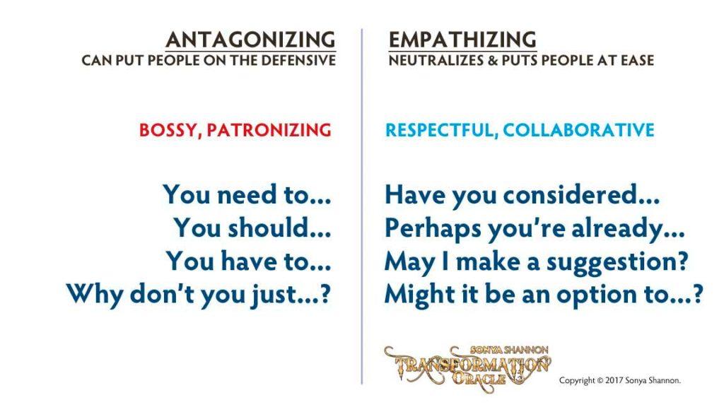 Antagonizing vs. Empathizing Language