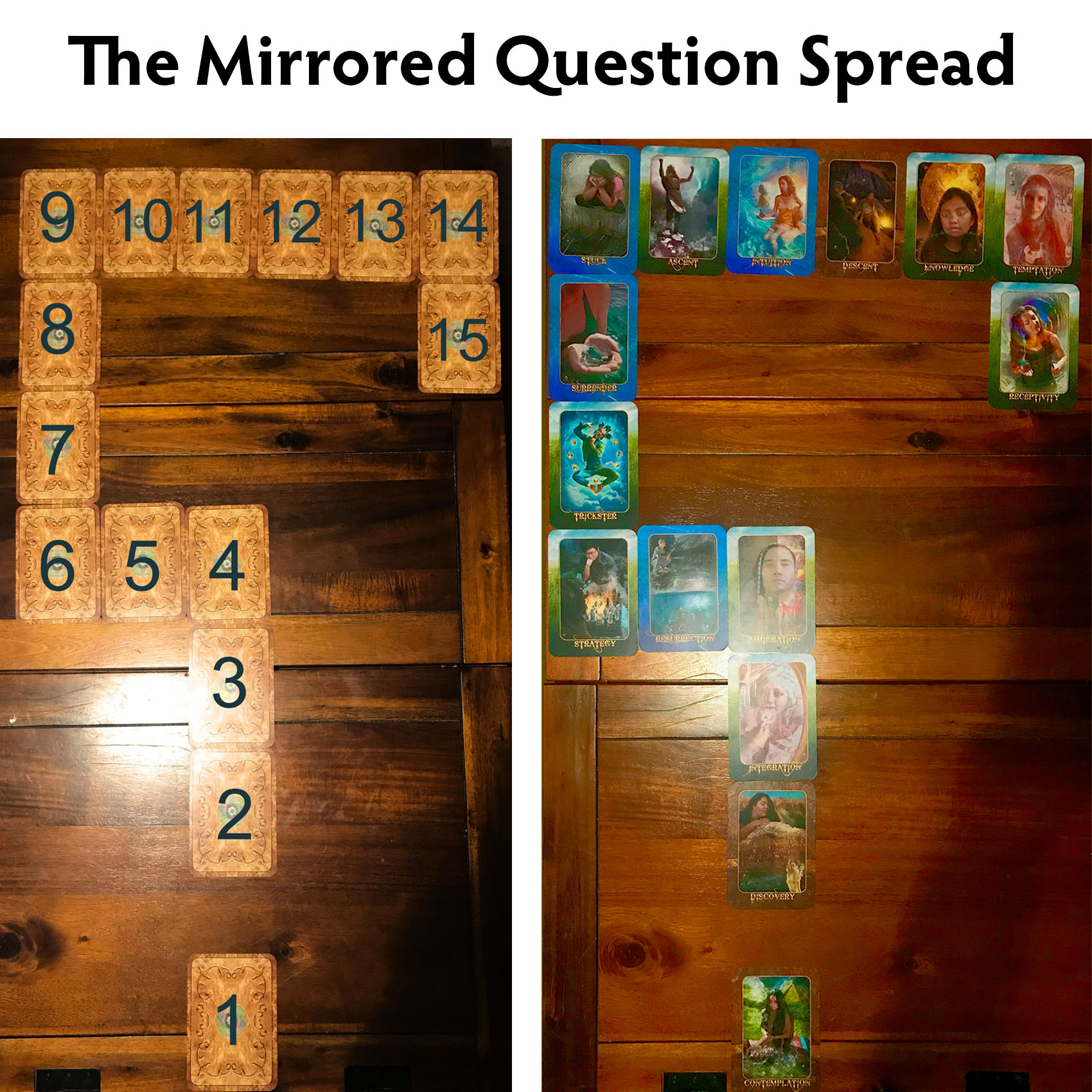 Mirrored Question Spread by Adryanna Kenna Sadge