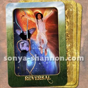 Reversal Card from the Transformation Oracle by Sonya Shannon