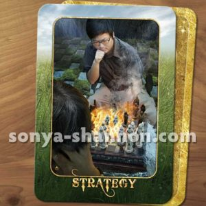 Strategy Card from the Transformation Oracle by Sonya Shannon