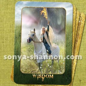Wisdom Card from the Transformation Oracle by Sonya Shannon